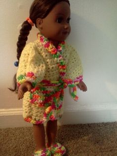 American girl crochet bsth robe