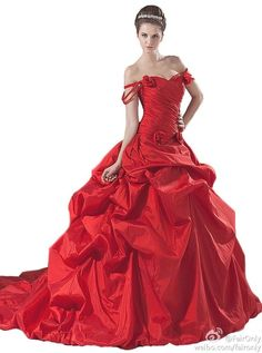 Faironly Red Wedding Dress Bridal Gown Custom Made Size:6 8 10 12 14 16+++