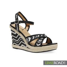 Wedge it out in this stylish black and white chevron pattern wedge sandals.   Go on have a stylish summer, check it out here: