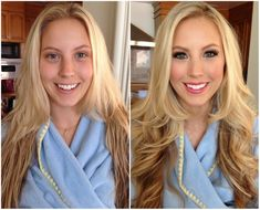 Before and after make up Девушки домакияжа ипосле