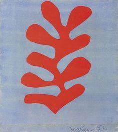 Henry Matisse: Algue rouge sur fond bleu ciel