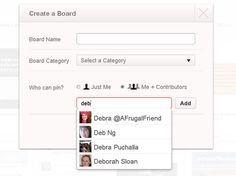 Create a Collaborative Pinboard on Pinterest - For Dummies. You can create a new board on Pinterest, you decide whether only you can pin to it or others can contribute as well. In most situations (especially if you're new to Pinterest) a solo board makes the most sense.