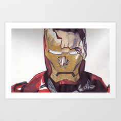 Iron Man  Art Print by DeMoose_Art - $20.00 Free Shipping + $5 Off Each Item in your shop!