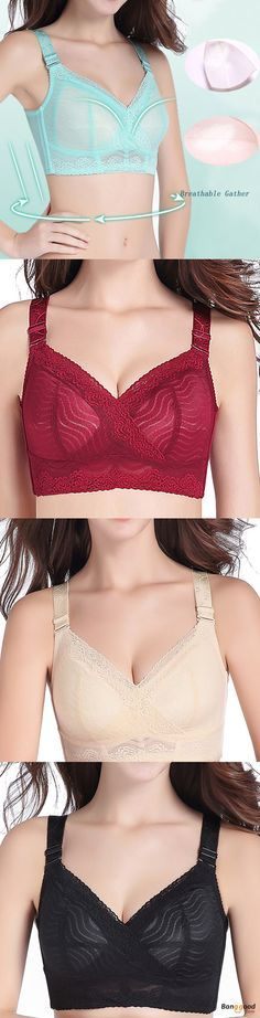 6d18a20c2c US 18.61 60% Large Size Full Cup Coverage Wireless Thin Big Chest Women  Adjusted Bra Lingerie from Clothing and Apparel on banggood.com
