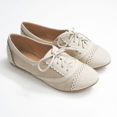 Super cute oxford inspired lace-up flats featuring a round toe and soft faux suede texture. Lightly padded insole for comfort. All man made material Imported True to US size Flat Shoes Outfit, Sock Shoes, Cute Shoes, Me Too Shoes, White Oxford Shoes, Oxford Flats, Vintage Shoes, Vintage Clothing, Vintage Style