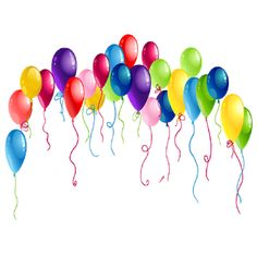 party balloons clipart clipart panda free clipart images clip rh pinterest com party balloons clipart free clipart party balloons and streamers