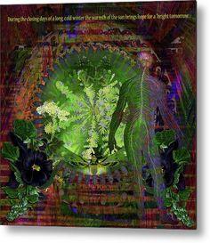 Solar Metal Print featuring the digital art Bright Tomorrow by Joseph Mosley