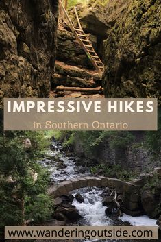 From waterfalls to suspension bridges here is a list of impressive hikes you will want to add to your future adventures. Oh The Places You'll Go, Places To Travel, Beautiful Places To Visit, Ontario Travel, Canada Ontario, Hiking Spots, Canada Travel, Outdoor Camping, Travel Around The World