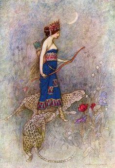 Zenobia, Queen of Palmyra (by Warwick Goble)