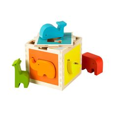 Bright and fun colors that also teach about animals and build coordination, plus it is safe and eco-friendly!