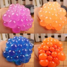 Anti Stress Face Reliever Grape Ball Autism Mood Squeeze Relief Healthy Funny Geek Gadget Vent Halloween Toys