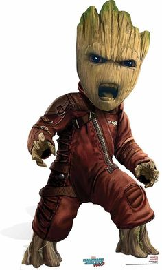 Baby Groot Guardians of The Galaxy Vol 2 Mini Cardboard Cutout / Standee / Stand Up   Fruugo