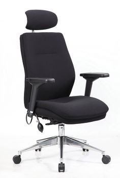 Exceptional The Active Black Fabric Chair Isour Double Layered Deep Cushioned 24 Hour  Ergonomic Posture Chair.