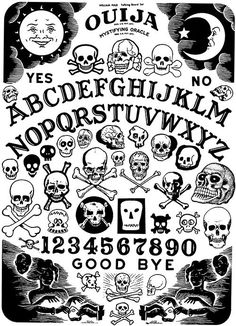 Ouija with an SS skull! Dessin Old School, Arte Horror, Flash Art, Skull Art, Magick, Wicca, Witchcraft, Pagan, Occult