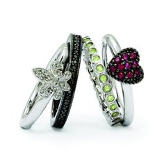 Set Of Four Stackable Rings