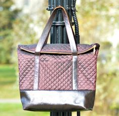 gorgeous leather accented sienna tote