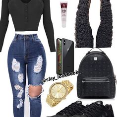 Sorry y'all I haven't posted in 2 days, dw tomorrow I'll post 4 ❤️ Boujee Outfits, Cute Swag Outfits, Teen Fashion Outfits, Stylish Outfits, School Outfits, Jordan Outfits For Girls, Teenage Girl Outfits, Outfits For Teens, Teenager Mode