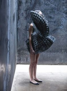Dresses inspired by gothic cathedrals by Matija Cop (textile student)