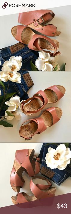 Lucky Brand Wedges Adorable Lucky Brand leather wedges! These puppies are like new! Size 6.5 Lucky Brand Shoes Wedges