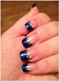 Image result for french nails with glitter line