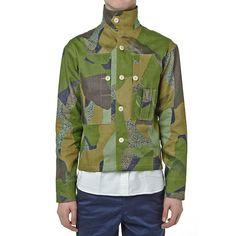 Nigel Cabourn Classic Shirt Jacket Indigo Camo