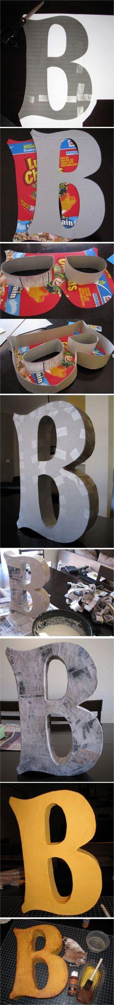 Lettere in cartone fai da te per decorare casa! 15 idee da cui trarre ispirazione…