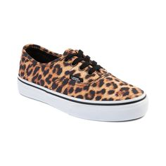 Girls Youth Vans Authentic Leopard Skate Shoe