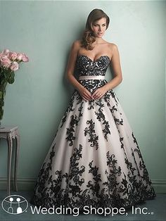 A stunning bridal gown in black! Allure 9150