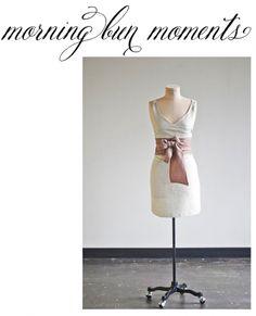 """morning bun moments"" apron"