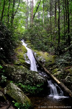 Waterfalls in Pisgah National Forest, Blowing Rock, NC