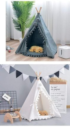 dog house diy \ dog house diy ` dog house diy outdoor ` dog house diy easy ` dog house diy large ` dog house diy indoor ` dog house diy plans ` dog house diy easy outdoor ` dog house diy outdoor how to build Diy Tipi, Cat Teepee, Teepee Dog Bed, Diy Cat Tent, House Tent, Kids Tents, Dog Rooms, Pet Furniture, Bedroom Furniture