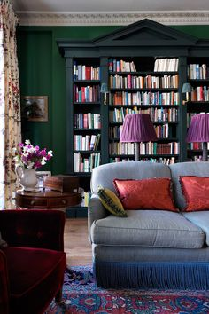 Colorful living room of a 19th century london home