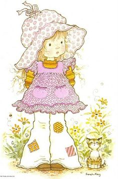 Patches - by Sarah Kay Sarah Key, Holly Hobbie, Colouring Pages, Adult Coloring Pages, Coloring Books, Anne Geddes, Creation Art, Baby Kind, Australian Artists