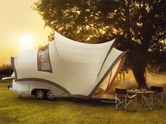 "The ""Opera"" camper, side view. Concept."
