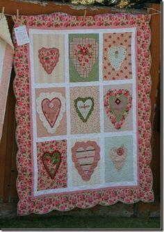 Hearts quilt...I would looooooooooove one of these!!