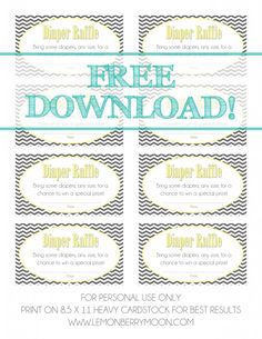 Baby Shower Diaper Raffle {FREE DOWNLOAD}