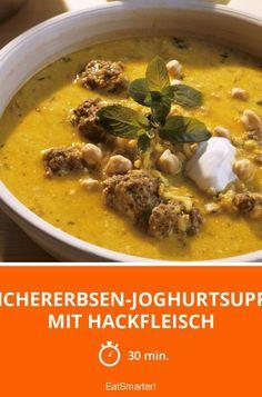 Kichererbsen-Joghurtsuppe mit Hackfleisch - smarter - Zeit: 30 Min. | eatsmarter.de