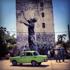 Beautiful pieces of urban art are made by French artist JR in collaboration with Cuban artist Jose Parla.