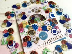 colorful buttons sticker button craft button by StickersKingdom