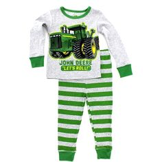 John Deere Infant Pajamas Set. Also available in toddler and boy's sizes! Free shipping!