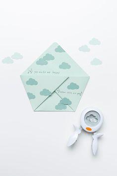 sandwichera de papel para los peques nubes