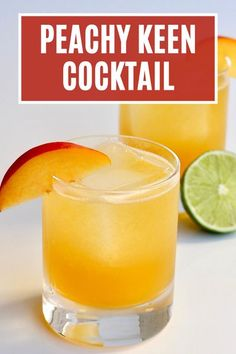 The Peachy Keen is a refreshing cocktail with the peach jam bringing out the sweetness in the bourbon and the aged tequila adding some nice earthy complexity. A delicious cocktail recipe! #peachykeen #cocktail