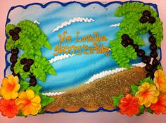 Beach kids cake by Cake & All Things Yummy in Kernersville, NC