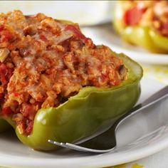 What does a nosey pepper do? If you're looking for a good pepper recipe, these Italian Stuffed Peppers are for you. A tasty recipe that will have everyone wishing they were up in your business! Vegetable Recipes, Beef Recipes, Cooking Recipes, Healthy Recipes, Chef John Recipes, Italian Stuffed Peppers, Stuffed Green Peppers, Stuffed Pepper Recipes, Beef Dishes
