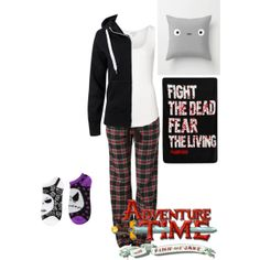 """Laying in bed watching Adventure Time"" by emolover323 on Polyvore"