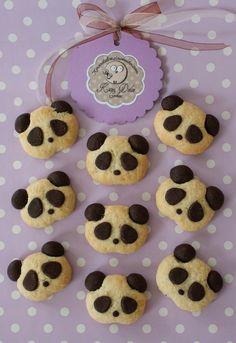 Bakery - Choco-Panda Cookies - a unique product by Kavadolce on DaWanda - Backen - Animals Cookies Cupcake, Cute Cookies, Cupcakes, Christmas Baking, Christmas Cookies, Panda Party, Biscuits, Food Humor, Cute Food