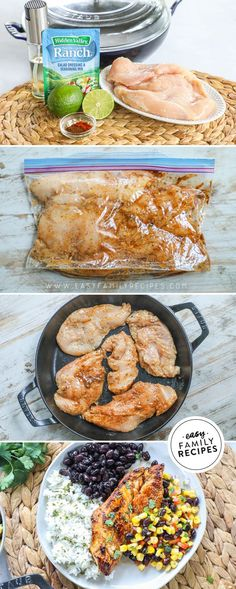 BEST Chicken Breast dinner!! This Chile Lime Chicken is made quickly in a skillet for a fast dinner recipe with so much flavor! Serve it with veggies, rice, beans or corn salsa for a healthy meal that is filling and delicious! Fast Dinner Recipes, Easy Chicken Dinner Recipes, Chicken Breast Recipes Healthy, Baked Chicken Recipes, Easy Healthy Recipes, Fast Recipes, Turkey Recipes, Healthy Meals, Easy Family Meals