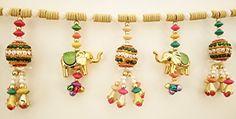 Jay Maharaj Home Decor - Door Hanging - Traditional Multicolor Handmade Elephant Toran From Jm Diwali Decoration Items, Diwali Decorations At Home, Handmade Decorations, Diwali Diy, Diwali Craft, Diy Tassel, Tassels, Rangoli Ideas, Gift Wrapper