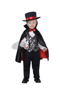Halloween Costumes little black magician Clothing, if your child has a dream to be a magician, then please take this one.