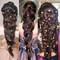 Gorgeous Wedding Hairstyles for Long Hair Easy Hairstyles For Long Hair, My Hairstyle, Wedding Hairstyles For Long Hair, Indian Hairstyles, Bride Hairstyles, Long Hair Wedding Styles, Elegant Wedding Hair, Short Hair Styles, Bridal Hair Buns